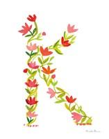 Floral Alphabet Letter XI Fine-Art Print