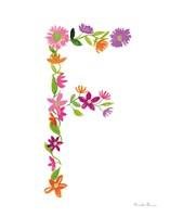 Floral Alphabet Letter VI Fine-Art Print