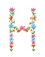 Floral Alphabet Letter VIII Fine-Art Print