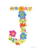 Floral Alphabet Letter X Fine-Art Print