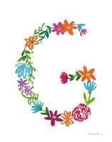 Floral Alphabet Letter VII Fine-Art Print