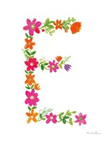 Floral Alphabet Letter V Fine-Art Print