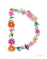 Floral Alphabet Letter IV Fine-Art Print
