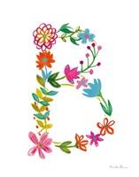Floral Alphabet Letter II Fine-Art Print