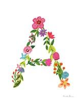 Floral Alphabet Letter I Fine-Art Print