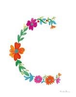 Floral Alphabet Letter III Fine-Art Print