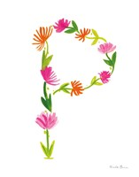 Floral Alphabet Letter XVI Fine-Art Print