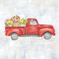 Vintage Red Truck Fine-Art Print