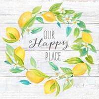 Our Happy Place Lemon Wreath Fine-Art Print