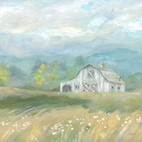 Country Meadow Farmhouse Fine-Art Print