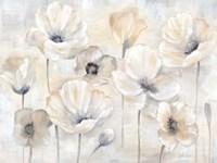 Gray Poppy Garden Landscape Fine-Art Print