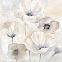 Gray Poppy Garden I Fine-Art Print