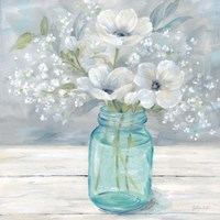 Vintage Jar Bouquet I Fine-Art Print