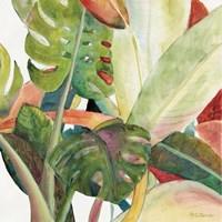 Tropical Lush Garden square I Fine-Art Print
