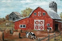 Red Country Barn Fine-Art Print