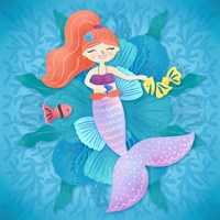 Mermaid Red Hair Fine-Art Print