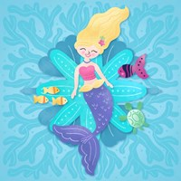 Mermaid Blonde Hair Fine-Art Print