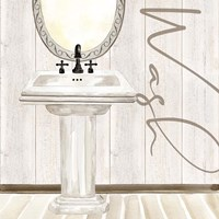 Rustic Bath I Wash Fine-Art Print