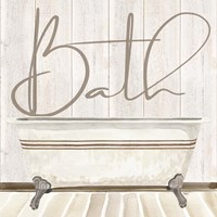 Rustic Bath II Bath Fine-Art Print