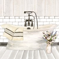 Farmhouse Bath I Tub Fine-Art Print