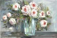 Pink Blooms Still Life Landscape Fine-Art Print
