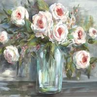 Pink Blooms Still Life Square Fine-Art Print
