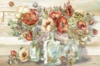 Spice Poppies and Eucalyptus in bottles Landscape Fine-Art Print