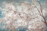 Magnolia Branches on Blue Fine-Art Print