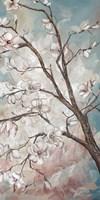 Magnolia Branches on Blue III Fine-Art Print