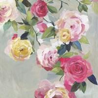 Cascade of Roses I Fine-Art Print