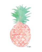Mint and Pink Pineapple Fine-Art Print