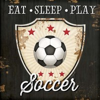 Eat, Sleep, Play, Soccer Fine-Art Print