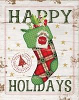 Happy Holidays Stocking Fine-Art Print