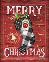 Merry Christmas Stocking Fine-Art Print