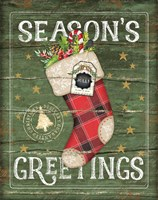 Season's Greetings Stocking Fine-Art Print