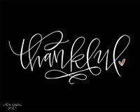 Thankful Black Fine-Art Print