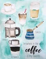 World Coffee Fine-Art Print