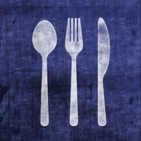 Indigo Spoon Fork Knife Fine-Art Print