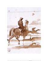 Study of Horses and Joc Fine-Art Print