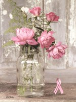 Pink Roses for Breast Cancer Awareness Fine-Art Print