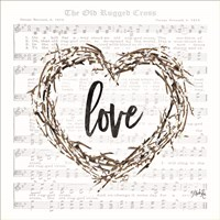 Old Rugged Heart Love Wreath Fine-Art Print