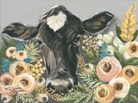 Cow in the Flower Garden Fine-Art Print