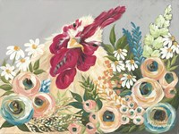 Hen in the Flower Garden Fine-Art Print