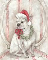 French Bulldog Santa Fine-Art Print