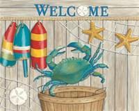 Blue Crab & Basket Fine-Art Print