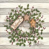Believe Wreath Fine-Art Print