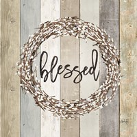 Blessed Pussy Willow Wreath Fine-Art Print