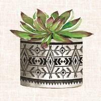Cactus Mud Cloth Vase I Fine-Art Print