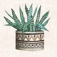Cactus Mud Cloth Vase III Fine-Art Print