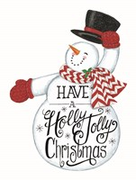 Have a Holly Jolly Christmas Snowman Fine-Art Print